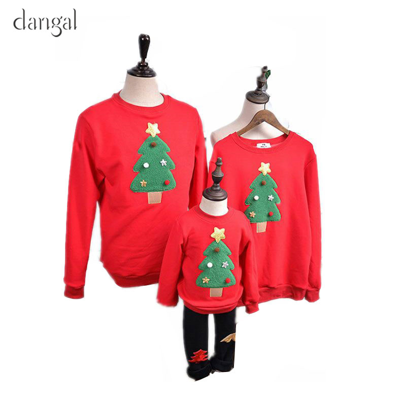 Christmas Clothes for Family Family Matching Christmas Sweaters Christmas Baby Clothes Couple Clothes Tree Loose Red