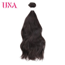 UNA Human Hair 1 Piece Natural Color Brazilian Wave Bundles Non-Remy Weft Weave 8-26 inches