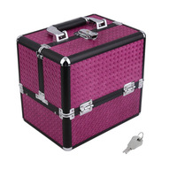 Two Layers Beauty Portable Make Up Cosmetic Box Travel Carry Case Organizer Bag Jewelry Storage Container