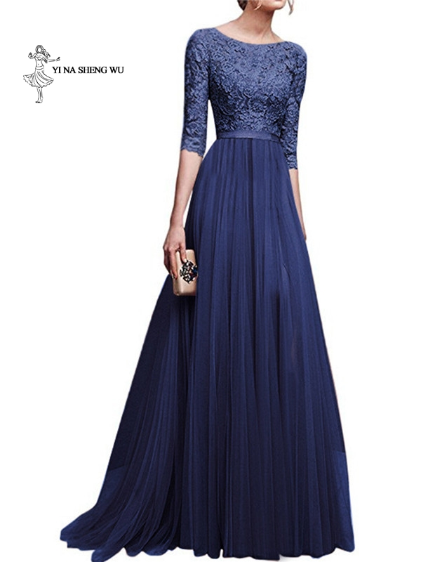 Evening Dresses For Women Short Sleeve Chiffon Evening Dress Long Dresses Party Gowns Formal Robe High Quality Ballroom Dresses