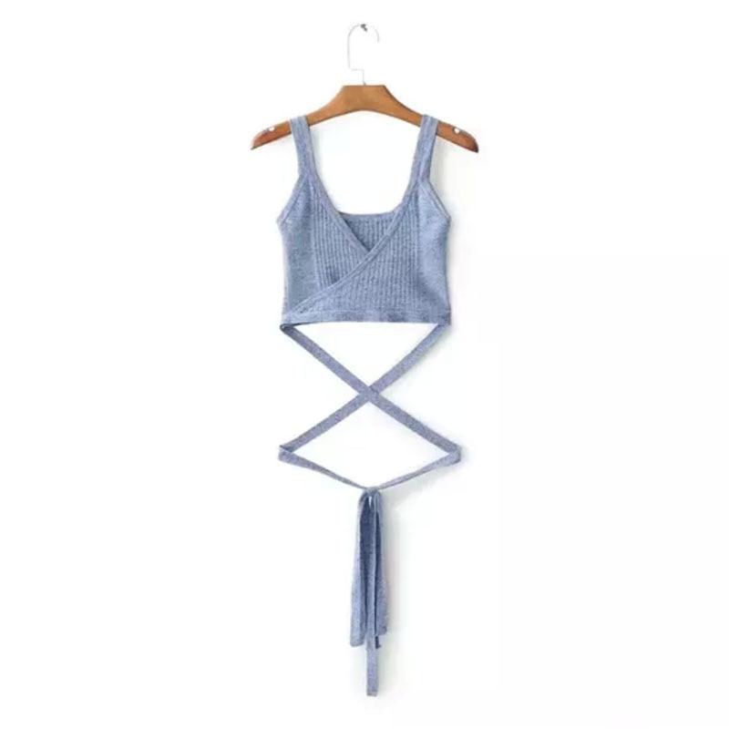 Tassel Knitted Cami Top Women 7 Colors Boho Fringe Trim Cute Brief Sleeveless Summer Tops 2018 Sexy Beach Casual Longest Bandage
