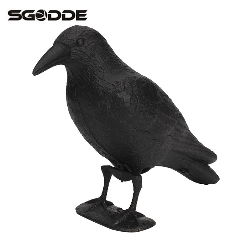 Black Crow Hunting Decoy Garden Bird Deter Scarer Scarecrow Mice Pest Control Garden Yard Deterrent Repeller Traps for Hunting
