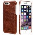 """Benuo Para iPhone 7 Mais Caso de Couro Macio Couro Genuíno Caso [2 Cartão Slots] Ultra Slim Inteligente Tampa Traseira para o iphone 7 Plus 5.5"""""""