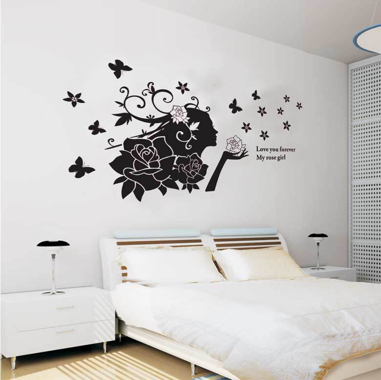 The floral fairy sticker hot selling print type diy decoration fashion wall sticker removable wall art decal deco in wall stickers from home garden on