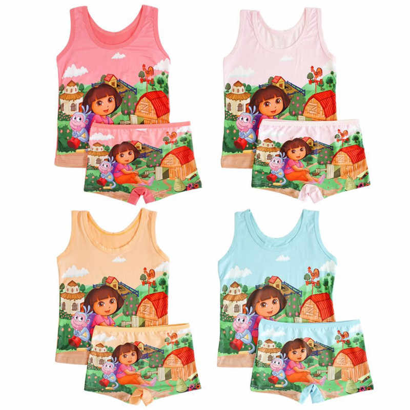 Trẻ Em Bộ Đồ Ngủ Nữ Bộ Mùa Hè Hoạt Hình Anna Elsa Pyjamas Bé Gái Bé Trai Áo Vest Quần Bộ Trẻ Em Đồ Ngủ Siêu Nhân Homewear