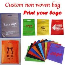 Custom print gift niet geweven zak voor verpakking/boodschappentas/handvat niet geweven zak