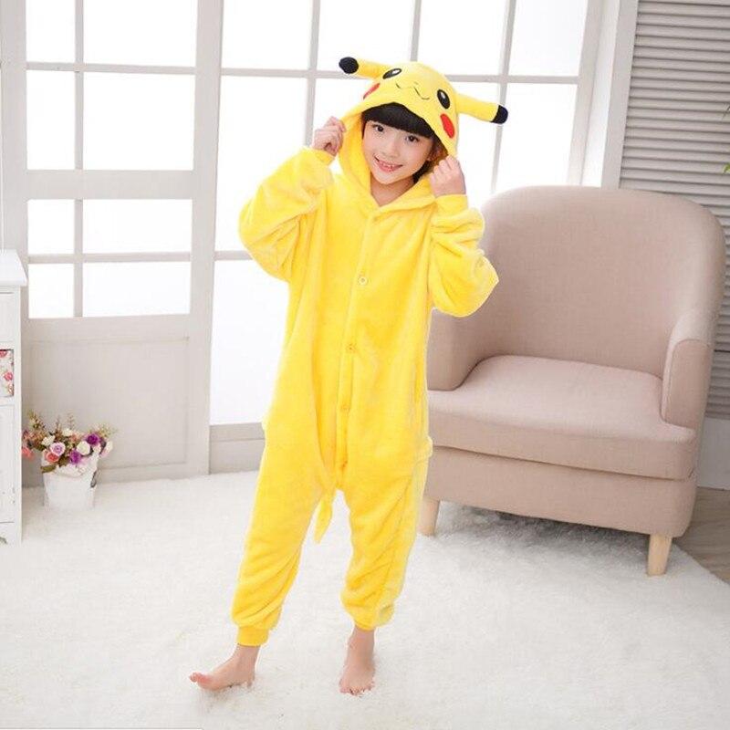 d333c45397 Animal de dibujos animados Pokemon Pikachu onesies para niños onesie  pijamas jumpsuit Sudaderas pijamas para niños en de en AliExpress.com