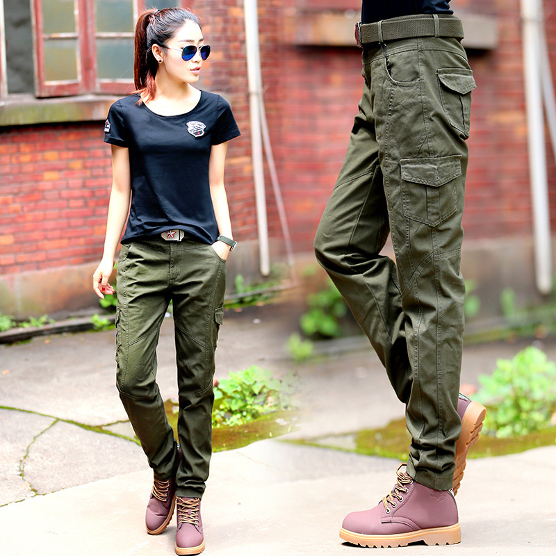 Women' Military Uniform Cargo Pants Summer Casual