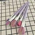 Unicorn Thread 5pcs Makeup Brushes Set rainbow hair Cosmetic Foundation Eyshadow Blusher Powder Blending Brush beauty tools kits
