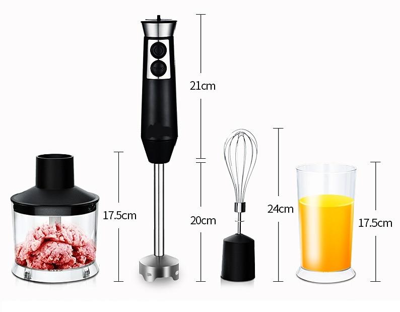 Big power handle blender stick blender sets 3 in 1