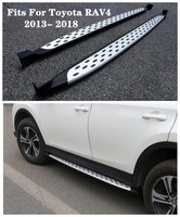 Fits For Toyota RAV4 2013 2014 15 2016 2017 2018 High Quality Aluminum alloy Car Running Boards Side Step Bar Pedals