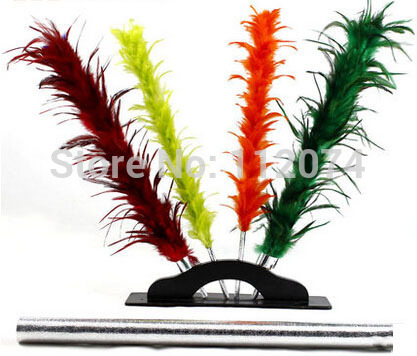 Color Changing feather,duster color changing flower - magic trick,feather magic, props,comedy
