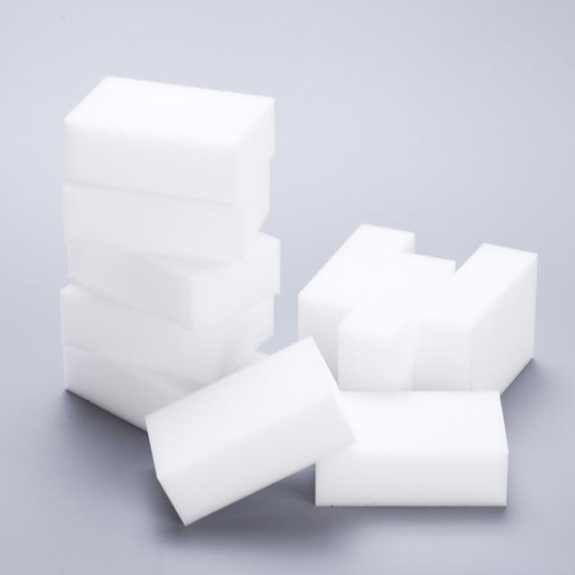 50 unids/lote esponja melamina Borrador de esponja mágico para oficina de cocina Limpieza de baño Nano de alta calidad 9x6x3cm