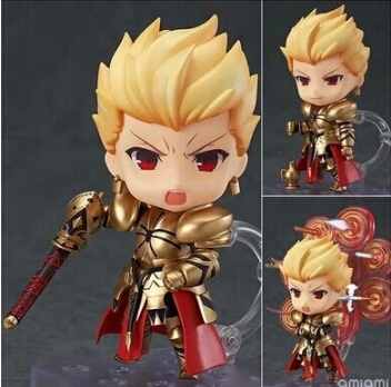 NEW Hot 10cm Q Version Fate Stay Night Gilgamesh Mobile Action Figure Toys Collection Christmas Toy Doll