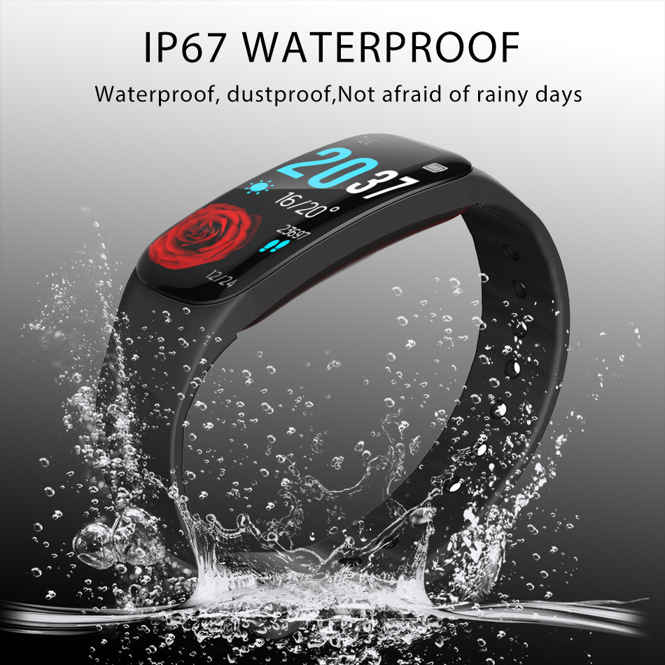 Image 3 - LIGE Sports smart watch Men IP67 Waterproof Fitness Tracker 1.14 Large Screen Blood Pressure Heart Rate Monitor For Android ios-in Smart Wristbands from Consumer Electronics