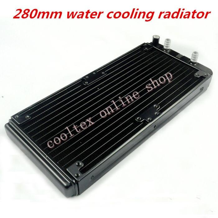 Prix pour 280mm d'eau de refroidissement radiateur pour Puce CPU GPU VGA RAM Laser de refroidissement refroidisseur En Aluminium Échangeur de Chaleur