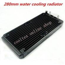 280mm su soğutma radyatör için Chip CPU GPU VGA RAM Lazer soğutma soğutucu Alüminyum Isı Değiştirici