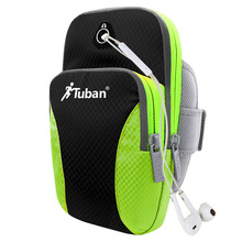 Tuban outdoor sports waterproof mobile phone arm bag for running fitness cycling Feflective Fabrice for 4-6 inch phone