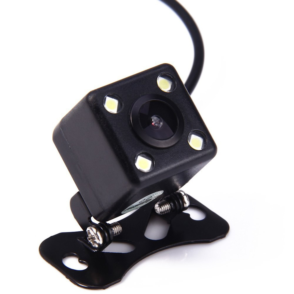 Universal IP 67 Waterproof Car Rear View Camera Wide View Parking Assistance Camera 4 LED Night Vision Parking Cam