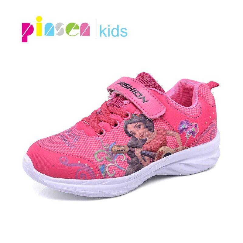 2019 Frühling Mädchen Turnschuhe Für Kinder Schuhe Elsa Anna Prinzessin Schuhe Mode Casual Kinder Sport Laufschuhe Leder Schuhe Für Mädchen Herausragende Eigenschaften