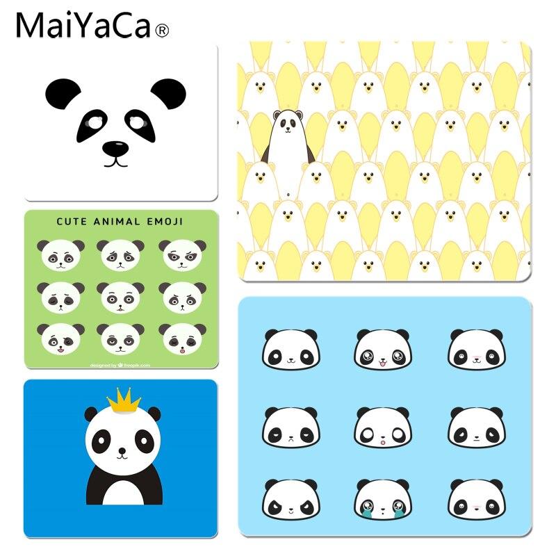 MaiYaCa Нескользящие ПК с рисунком панды геймер играть коврики коврик Размеры для 18x22 см 25x29 см резиновые для мышей