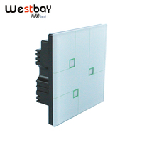 Westbay Brand New Touch Switch White Color 3 Gangs 2 Way Wall Switch AC100 250V Minimalist Design Damp Proof Light Switch