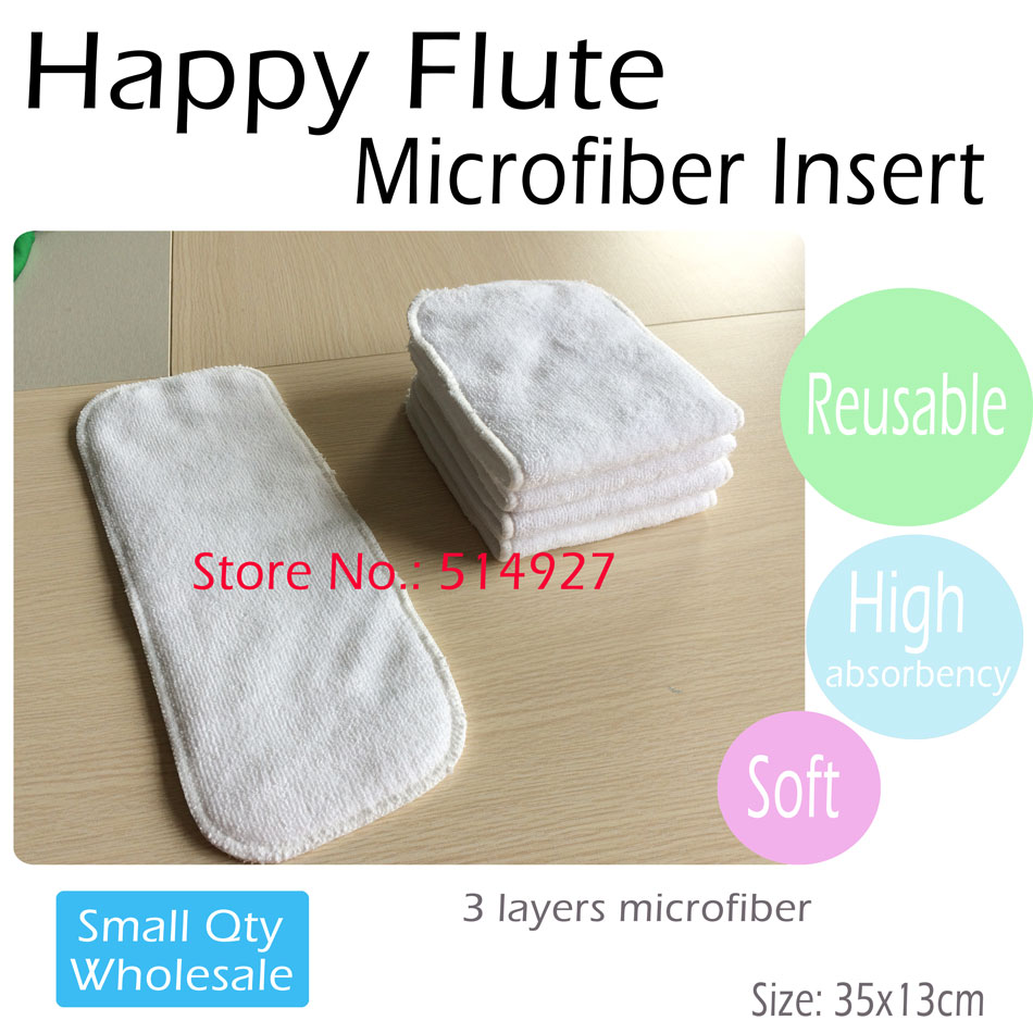 Microfiber Diaper Insert, Nappy pad, Nappy Booster for all Happy Flute Onesize Diaper cover, Pocket diaper,35cm x13.5cm 3 layers-in Baby Nappies from Mother & Kids    1