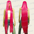 Heat Styable Wig Extra long Bang Hot Rose Pink Cosplay DNA for women wig fast deliver