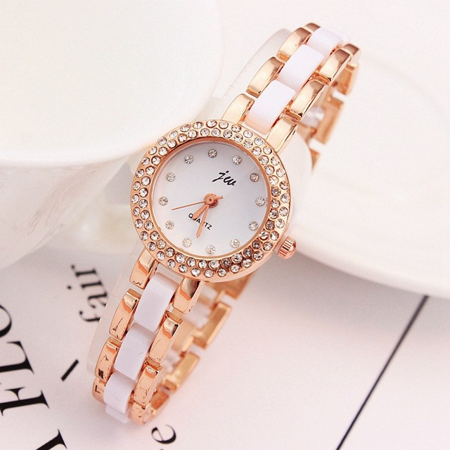 2018 New Brand JW Quartz Watch Women Luxury Rose Gold Wristwatches Ladies Simple