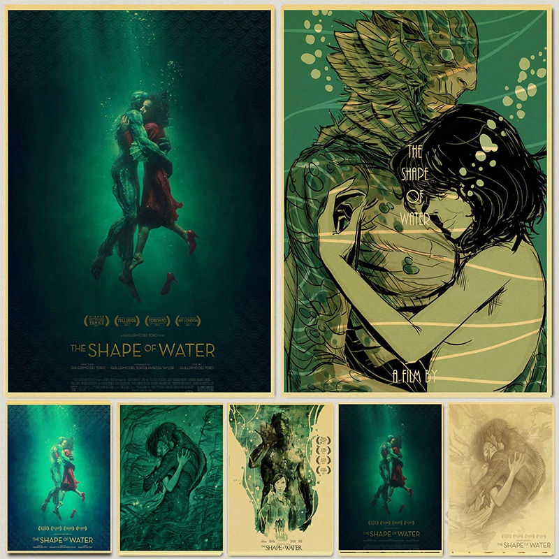 The Shape Of Water Movie Poster Beautiful Retro Posters Room Bar Cafe Wall Decorative Painting Wall Sticker