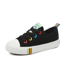 Children Canvas Shoes / Candy Color Laces Shoes