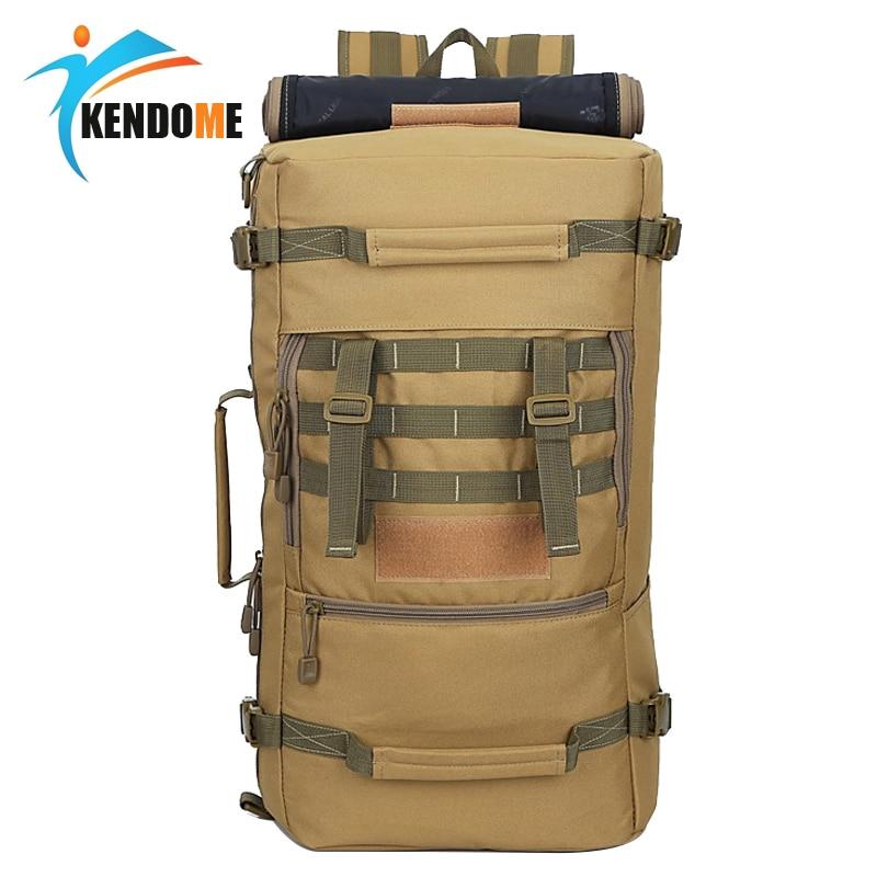 Quente a + + 50l militar tático mochila caminhadas acampamento daypack bolsa de ombro dos homens caminhadas mochila pacote volta feminina