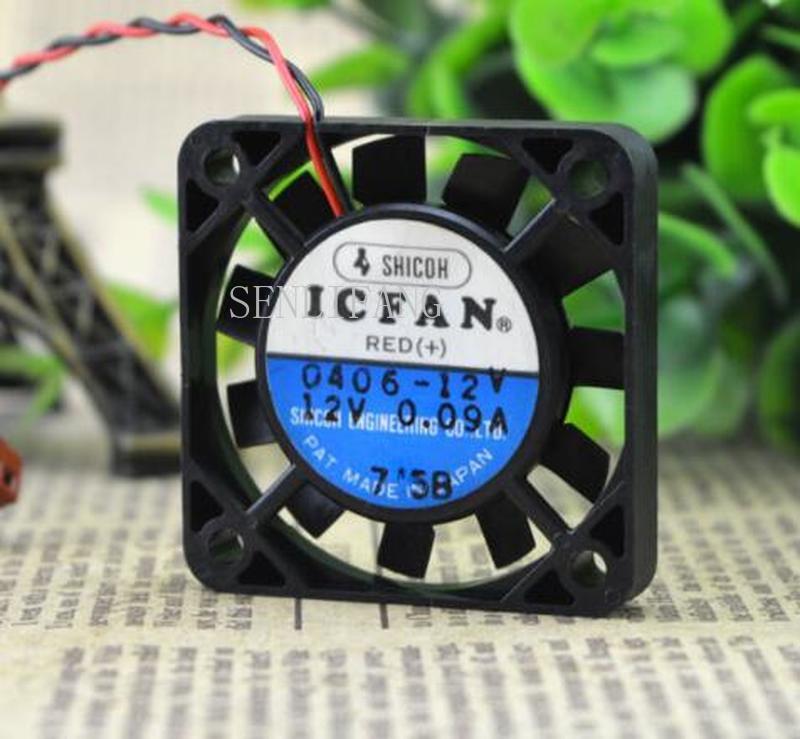 Free Shipping  ICFAN 0406-12V DC 12V 0.09A 40x40x06mm Server Square Fan