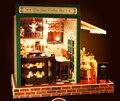3D DIY деревянные кукольный дом миниатюры звезда кафе бар с мебелью собраны модели здания дома игрушки для детей