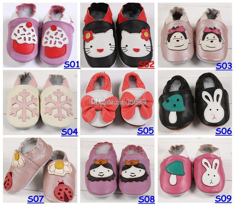 Baby Infant Toddler Animal Soft Sole Leather Shoes 100 Cow Leather Baby First Walker Shoes For