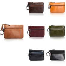 THINKTHENDO Mini Bags Ladies Kids Men Women Small Coin Purse Credit Card Key Ring Wallet Pouch Purse Case New 2 zipper Leather contact s men wallet genuine leather small coin purse women mini coins bags slim wallet coin purse credit