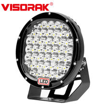 VISORAK 9 Inch Black Red Yellow Blue Claret 225W LED Work Light Bar For 4WD 4x4 Offroad Truck ATV SUV Boat Car Spot