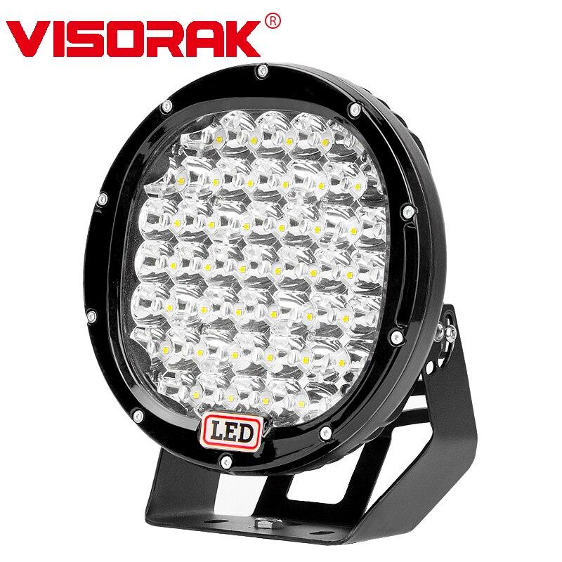VISORAK 2018 New 9 255W LED Work Light Bar 12V 24V Spot Flood Offroad LED Bar For 4WD 4x4 Truck Trailer ATV SUV Boat LED Beams