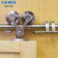 KIN MADE Free shipping+MM 10A Top mounted wooden closet sliding barn door full set hardware kit single door sliding system