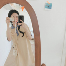 Summer Office Color Matching Loose Thin Dress Shirt Women's Dresses Chic Girl Kawaii Ulzzang Female Vintage Punk For Women Cute