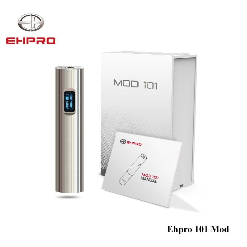 Batterie d'origine 50 W Ehpro 101 Mod 18650 & 18350 Mech Mod NITC/TITC/SSTC/Wattage/Mode By pass E Cigarette mécanique Mod Vape