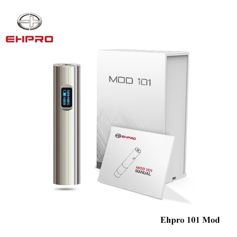 Original 50 w Ehpro 101 Mod 18650 et 18350 batterie Mech Mod CNFMO/TITC/SSTC/Puissance/ par passe Mode E Cigarette Mécanique Mod Vape