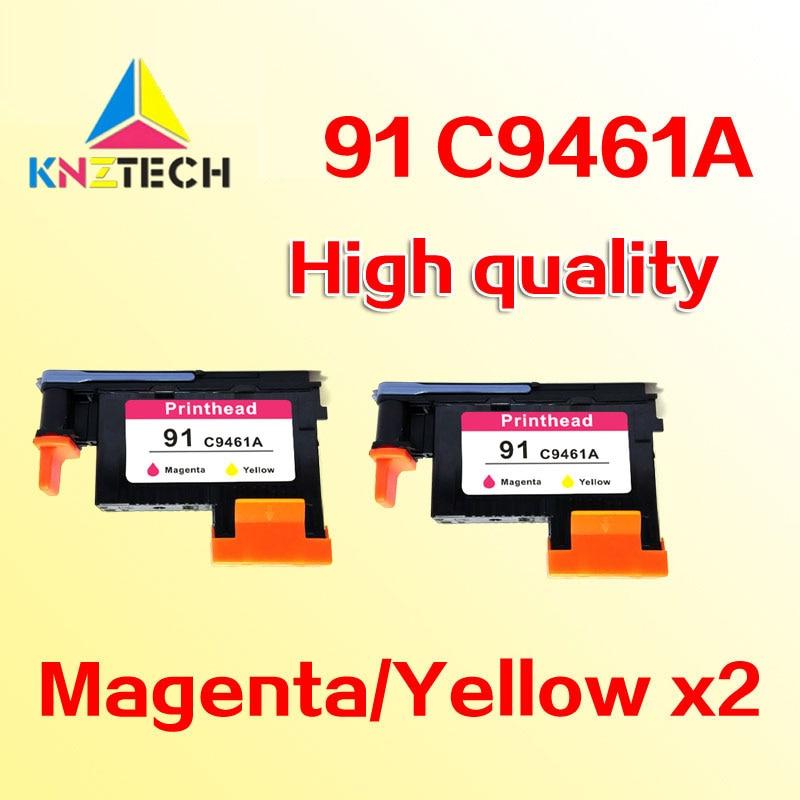 2 pièces têtes d'impression compatible pour hp 91 C9461A M/Y Tête d'impression compatible pour hp 91 Designjet Z6100 Z6100P 6100