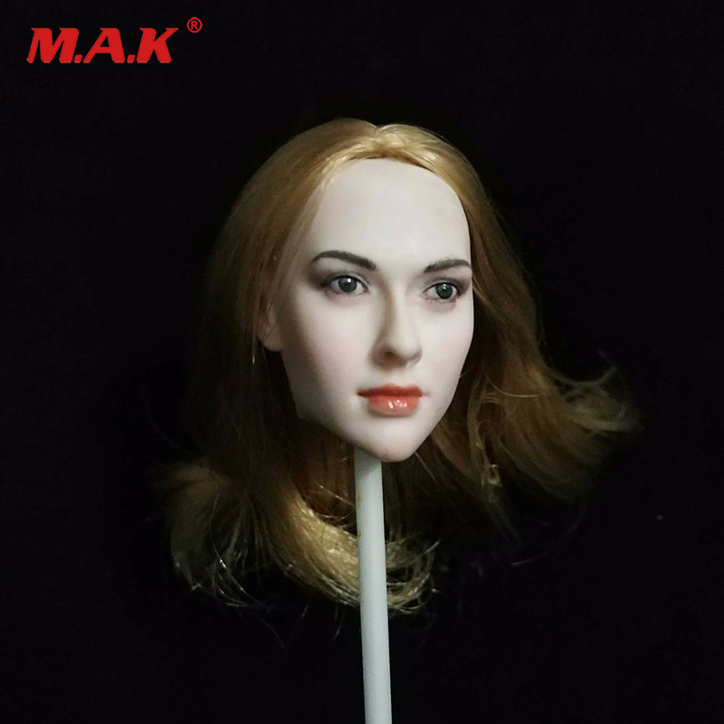 1:6 Scale Little Red Riding Hood Blond Hair Head Female Head Model For 12 PH Female Figure Body