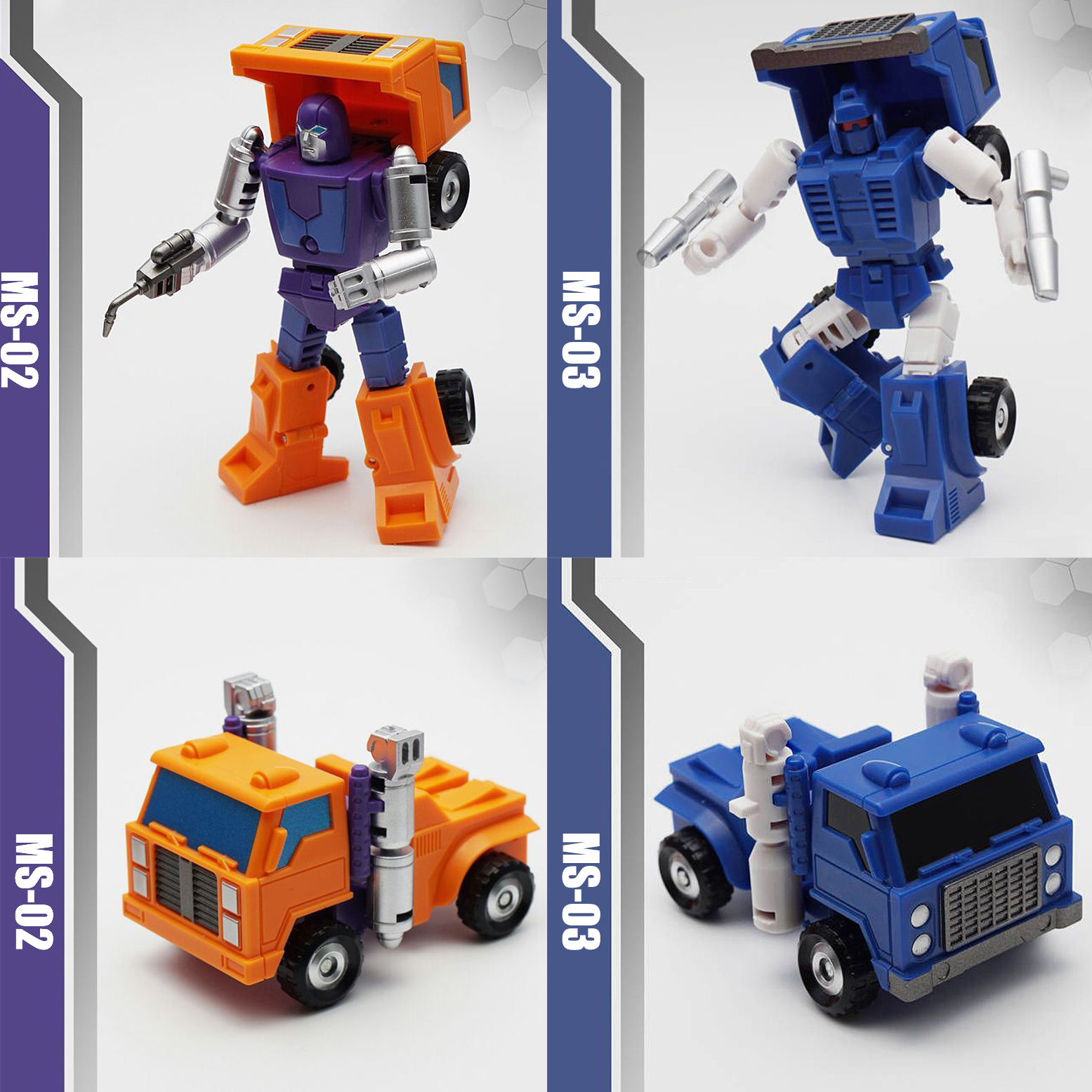2018 Transformation MFT MS02 MS03 Huffer Pipes Powered suit action figure collectible model toys for boys tuffstuff mft 2700