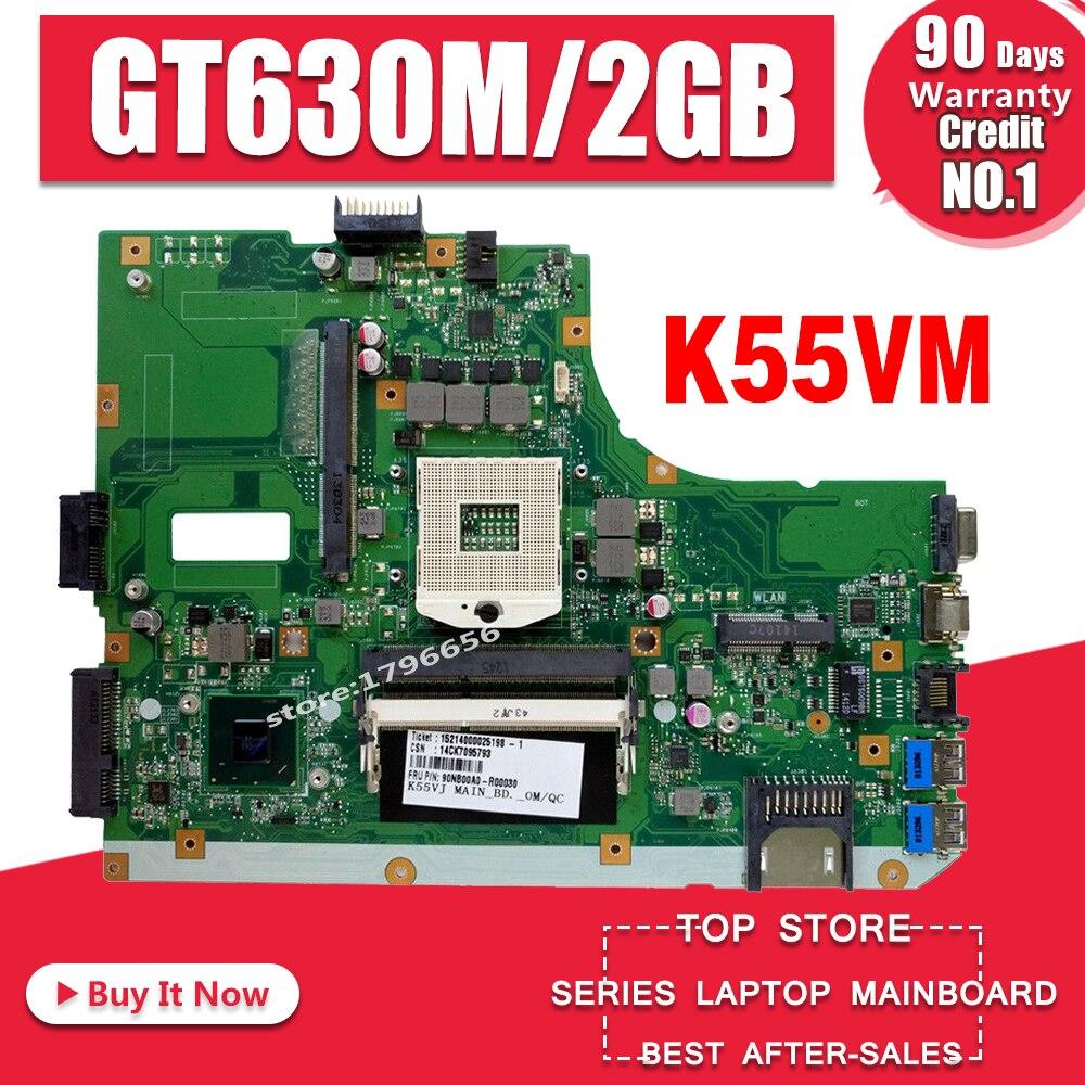 K55VM Motherboard GT630M HM77 RAM For ASUS K55VM A55V Laptop Motherboard K55VM Mainboard K55VM Motherboard Test 100% OK