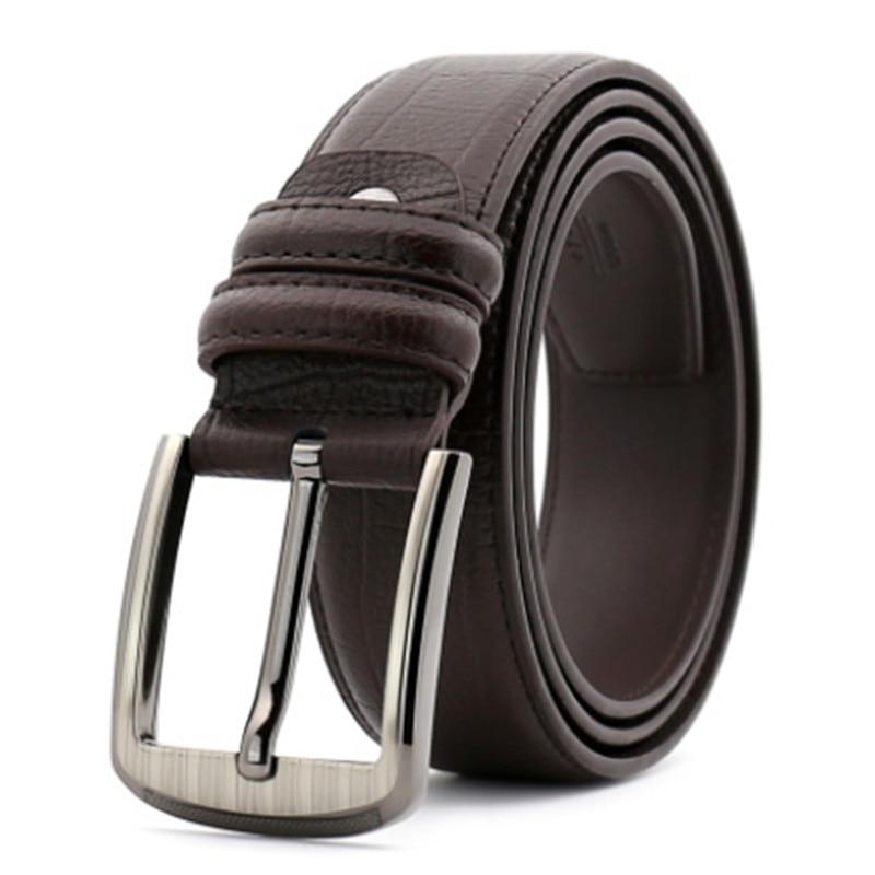 leather luxury strap male belts for men buckle fancy jeans