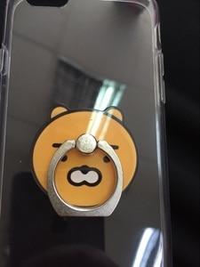Image 3 - 1Pcs  Cartoon Cute Anti fall Metal Finger Ring Mobile Phone Support Korea kpop figure toy