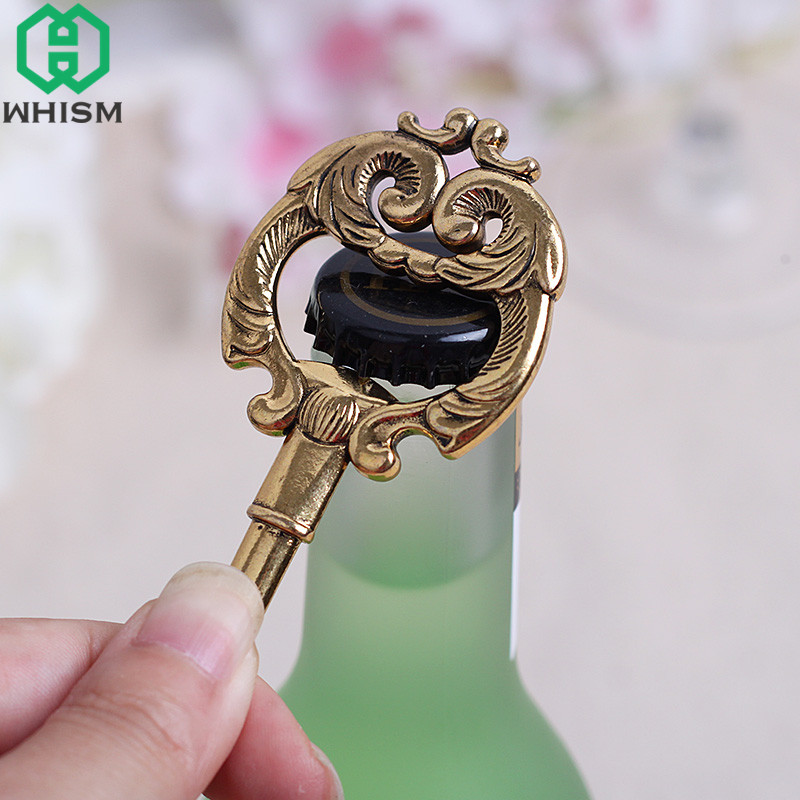 WHISM Mini Metal Key Bottle Opener Keychain Beer Openers Zinc Alloy Soda Bottle Opener Rustic Wedding Party Favor Guest Gifts