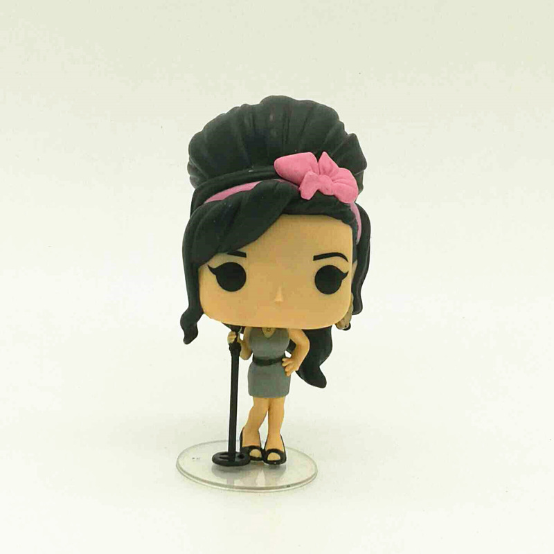 Imperfect Funko POP Second-hand Rocks: Amy Winehouse Vinyl Figure Collectible Model Toy Cheap No box imperfect funko pop second hand horror movies evil dead 2 ash with saw vinyl action figure collectible model toy cheap no box